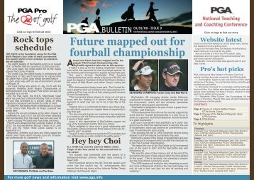 Future mapped out for fourball championship - PGA