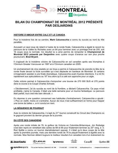 11 Juillet 2012 Bilan Du Championnat De Montréal