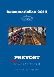 Baumaterialien 2012 - Oscar Prevost AG