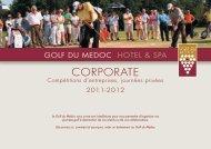 Télécharger notre plaquette corporate - Golf du Médoc