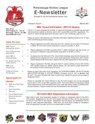 March E-Newsletter - 11 - Mississauga Hockey League