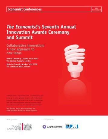 The Economist's Seventh Annual Innovation Awards Ceremony and ...