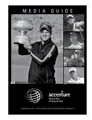 Accenture Match Play Championship Records ... - PGA TOUR Media