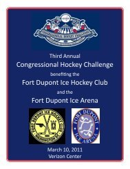 2011 CHC Event Program - Congressional Hockey Challenge