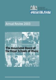 Annual Review 2003 - ABRSM