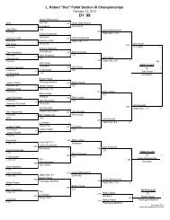 Complete Section XI Wrestling Tournament Brackets