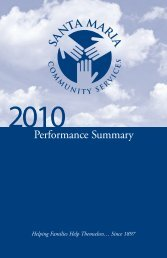 View the 2010 Annual Report - Santa Maria Community Services