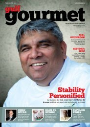 Stability Personified - The Emirates Culinary Guild