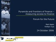 Pyramids and frontiers of finance - Forum for the Future