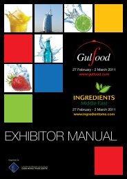 Gulfood 2011 Exhibitor Manual - IFEX Philippines
