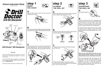 drill doctor 250 instructions