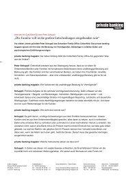Interview mit Peter Schuppli im Private Banking Magazin