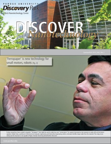 'Ferropaper' is new technology for small motors ... - Purdue University