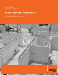 Autoclaved Aerated Concrete Technical Sheet and ... - Hebel