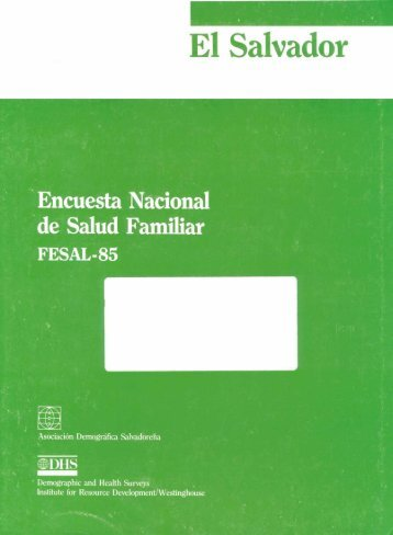 El Salvador Encuesta Nacional de Salud Familiar ... - Measure DHS