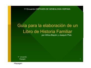 Guía para la elaboración de un Libro de Historia Familiar - Hispagen
