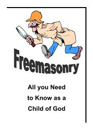 Freemasonry - All you need to know as a child of God2