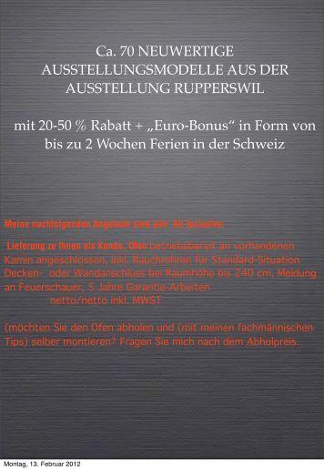 All inclusive: Lieferung zu Ihnen als Kunde, Ofen - Rutz AG