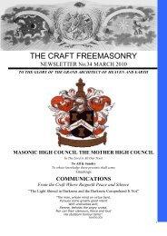 THE CRAFT FREEMASONRY - Masonic High Council the Mother ...