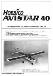 almost ready-to-fly radio controlled model airplane - Hobbico