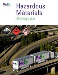 Hazardous Materials Shipping Guide - FedEx