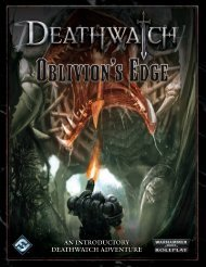 an introductory deathwatch adventure - Fantasy Flight Games
