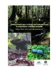 Report 2: Population viability analyses for eleven forest