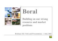 Brisbane Site Visits For Analysts 3 July 2003 - Boral