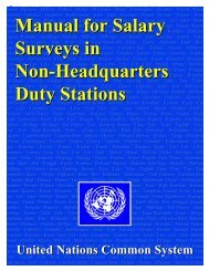 Manual for Salary Surveys in Non-Headquarters Duty Stations
