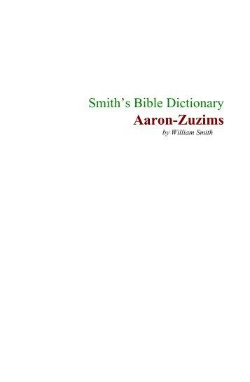 Smith's Bible Dictionary - El Camino Santiago