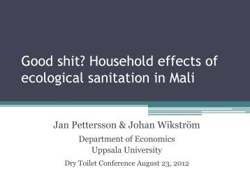 Good shit? Household effects of ecological sanitation in