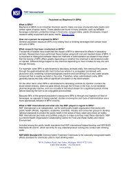 Factsheet on Bisphenol A (BPA) - NSF International