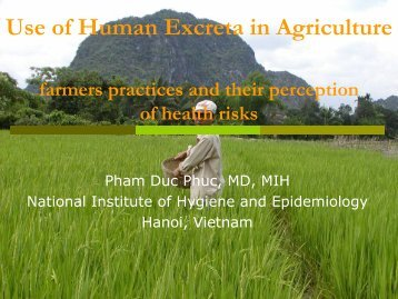 Use of Human Excreta in Agriculture farmers practices ... - EcoSanRes