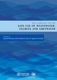 safe use of wastewater, excreta and greywater - Programme ...