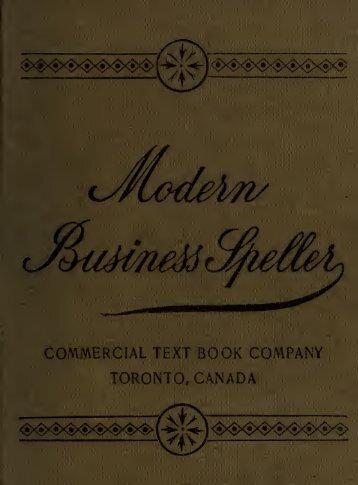 The modern business speller : including pronunciation ... - Index of