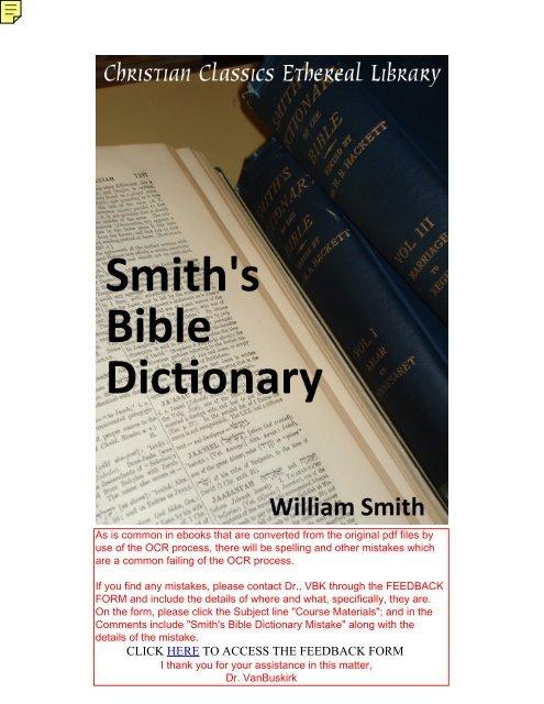 smith's bible dictionary 1884 - Salt Lake Bible College