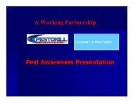 Pest awareness training University of Manchester - The University of ...