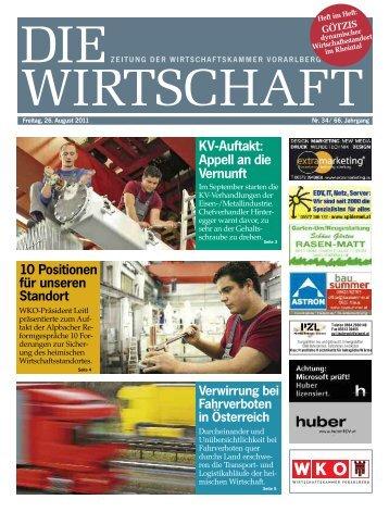 Die Wirtschaft Nr. 34 vom 26. August 2011
