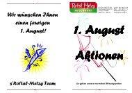 Aktionen vom 29. - 31. Juli 2010 1. August-Steak - Rottal-Metzg