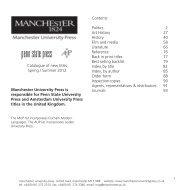 Download Catalogue - Manchester University Press