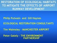 restoration of ecological habitats to mitigate the effects of airport ...