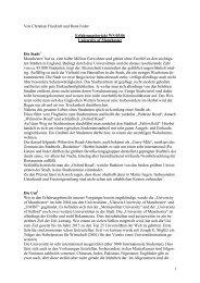 1 Von Christian Friedrich und René Feder Erfahrungsbericht WS 05 ...