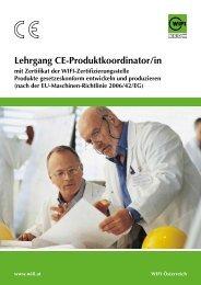WIFI Lehrgang CE-Produktkoordinator/in