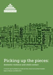 Picking up the pieces: domestic violence and child - Rights of Women