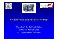 Prof. Dr. Madea - Rechtsmedizin und Patientensicherheit