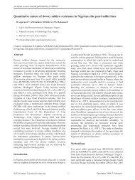 Quantitative nature of downy mildew resistance in Nigerian ... - Icrisat