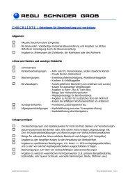 Checkliste Unterlagen Steuerberatung - Regli Schnider Grob ...