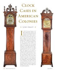 Clock Cases in American Colonies - Antiques and Fine Art