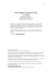 the Compiler Generator Coco/R User Manual - JKU