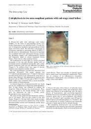Calciphylaxis in two non-compliant patients with end-stage renal ...